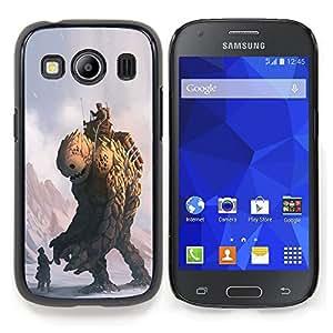 "Qstar Arte & diseño plástico duro Fundas Cover Cubre Hard Case Cover para Samsung Galaxy Ace Style LTE/ G357 (Monster Piedra"")"