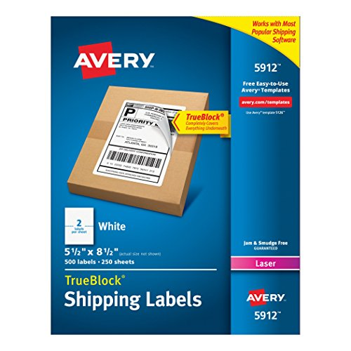 Avery Internet Shipping TrueBlock Technology