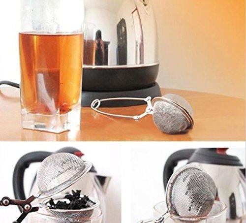 Skuleer£¨TM)1pcs Loose Spring Spoon coffee Tea Mesh Ball Infuser Stainless Steel Filter Teaspoon Squeeze Strainer