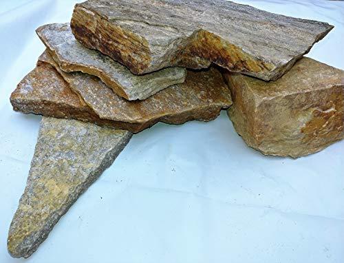 Golden Slate - Rocks To Go Golden Sheen Quartz Slate 4-7lb (6-11