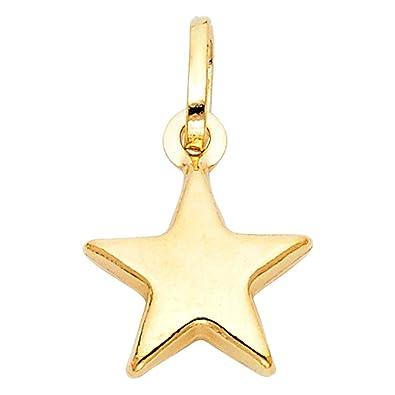 Amazon 14k yellow gold star charm pendant jewelry 14k yellow gold star charm pendant mozeypictures Choice Image
