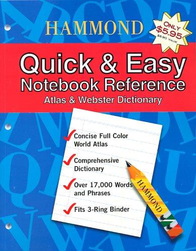 Hammond Quick & Easy Notebook Reference: Atlas & Webster Dictionary by Brand: Hammond World Atlas Corporation