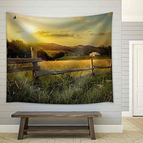 Art Rural Landscape Field and Grass Fabric Wall