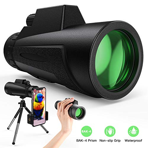 Best Review Of Monocular Telescope - 12X50 High Power HD Monoculars with Holder & Tripod Waterproof ...
