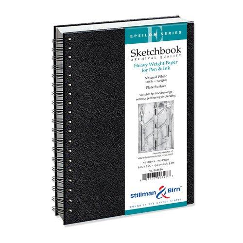 Stillman & Birn Epsilon Wirebound Sketchbook, Heavyweight 100lb, Natural White, 50 Sheets, 7x10