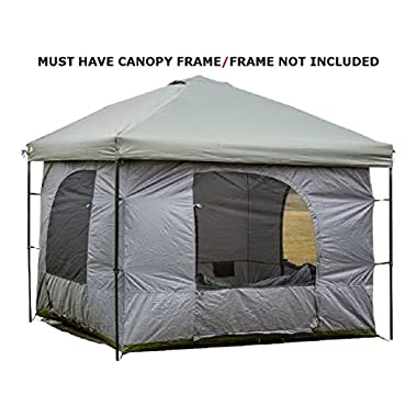 Standing Room 144 Family Cabin Camping Tent (XXL 12x12) With 8.5 feet of Head Room, 4 Big Screen Doors, All Season Weather Proof Fabric, Fast & Easy Set Up Cabin Tent, Family Tent, Large Tent