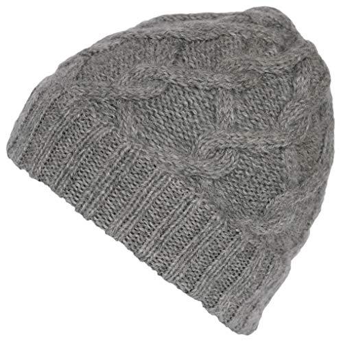 - Alparino Handmade Snake Cable Alpaca Wool Hat (Light Grey)