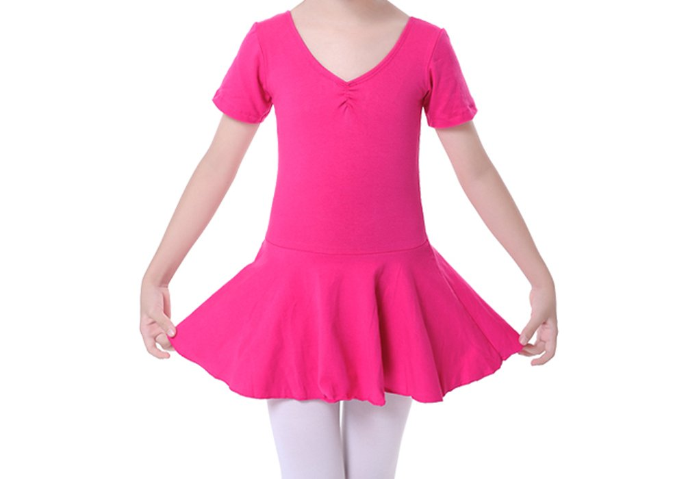 Bmeigo Kids Girl Ballet Dress Short Sleeve Dance Skirt Cotton Dress Guangzhou Bmeigo Co. Ltd