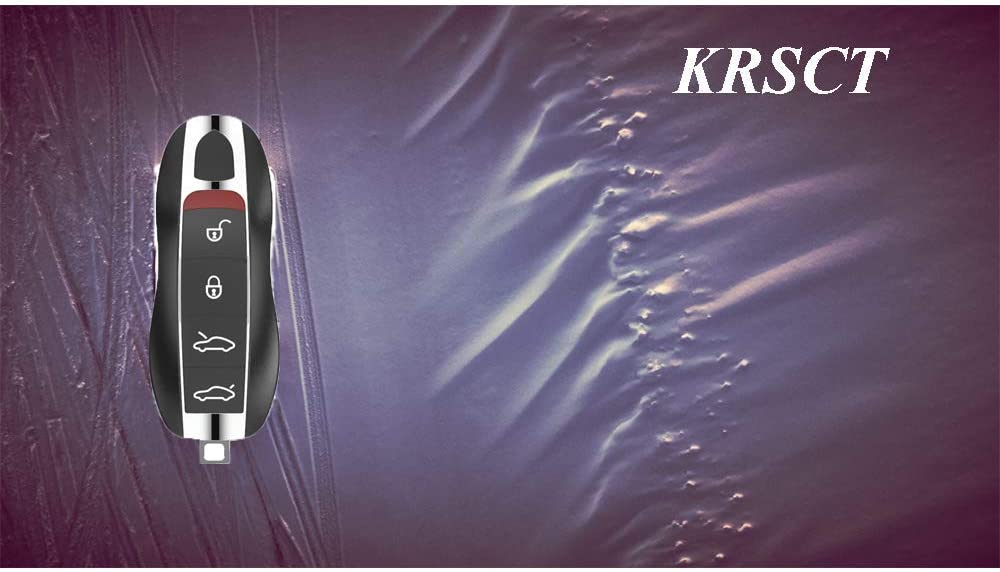 Single KRSCT Car Remote Key Fob fit for Porsche Keyless Entry Remote Control Replacement 4-Button KR55WK50138