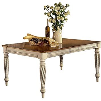 Hillsdale Wilshire Rectangular Casual Dining Table In Antique White Finish