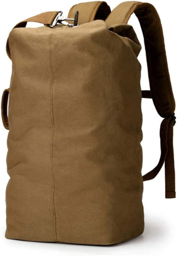 Bucket Bag Runtongshanghang Mens Sports Backpack Leisure Travel Fashion Bag Canvas Bag Outdoor Bag Color : Canvas, Size : S Large Capacity Bag