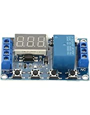 DC 5-30V Delay On/Off Relay Module, Delay On Off Timer Relay Trigger Cycle Delay Timer Switch LED Display