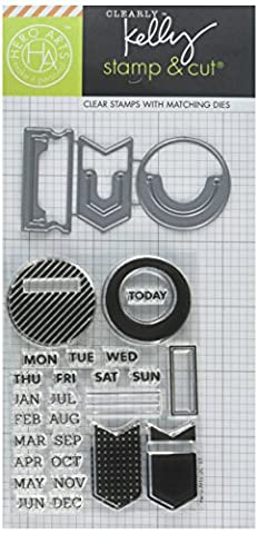 Hero Arts Kelly's Planner Clips & Cuts Clear Stamp Set with Coordinating Dies (Planner Die)