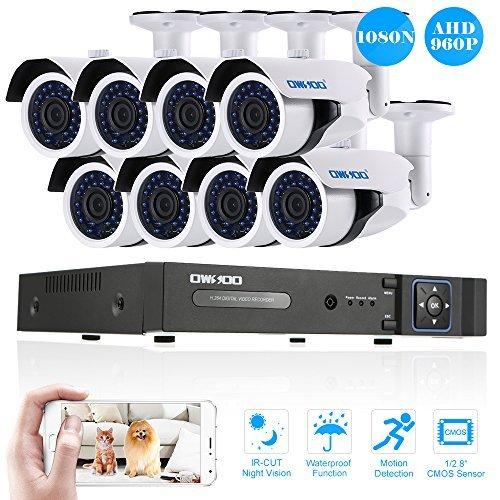 KKmoon 4Canales 1280720p Red CCTV DVR H.264HDMI Sistema de seguridad para el hogar Alarma Email, 8CH 960P