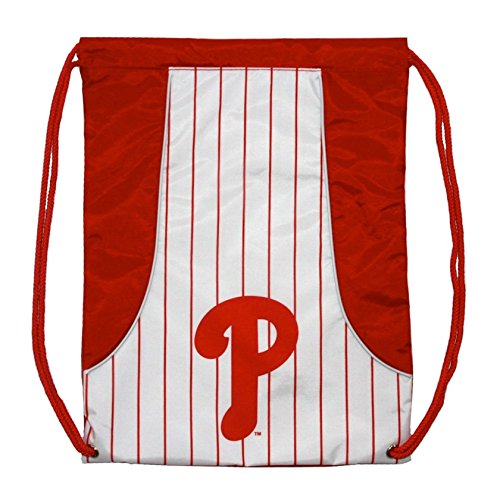 Rico Industries, Inc. Philadelphia Phillies Pinstripe Cinch Bag Drawstring Backpack Bag Decal Emblem ()