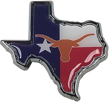University of Texas METAL chrome Emblem with Orange Trim AMG LHOE