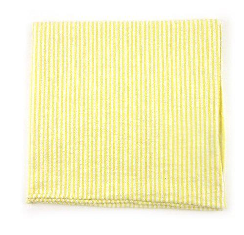 Yellow Seersucker (The Tie Bar 100% Cotton Yellow Seersucker Pocket Square)
