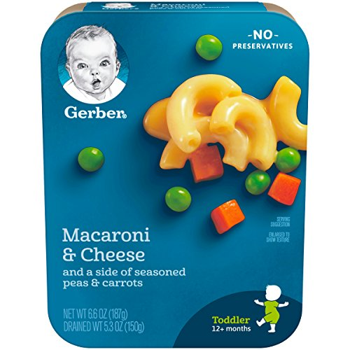 Gerber Macaroni & Cheese with a side of Seasoned Peas & Carrots, 6.6 Ounce