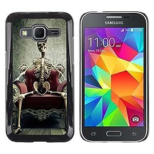 - Skull Devil Diablo - - Monedero pared Design Premium cuero del tirš®n magnšŠtico delgado del caso de la cubierta pata de ca FOR Samsung Galaxy Core Prime G360 G3608 G3606 Funny House