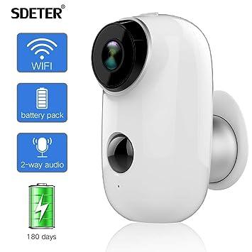 d4ce8cd3109e6 Caméra de sécurité extérieure SDETER, système de Surveillance alimenté par  Batterie Rechargeable sans Fil 1080P