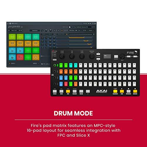 Akai Professional USB MIDI Controller for FL Studio with 64 RGB Clip/Drum Pad Matrix (Fire)
