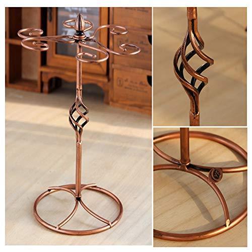 Classic Elegant Metal Tabletop 6 Wine Glass Display Holder Drying Rack Stand//Storage Rack