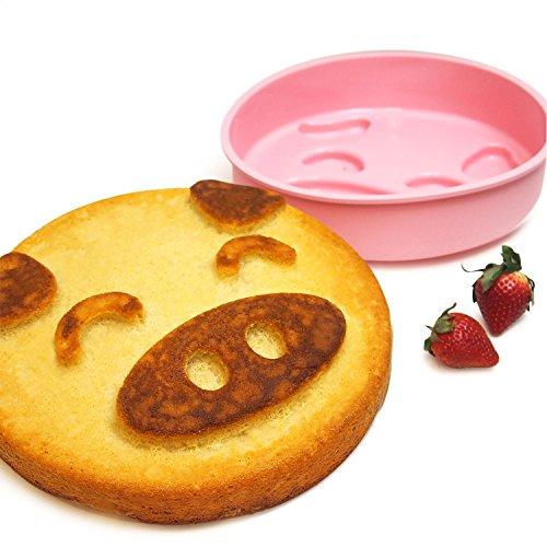 INNOKA Pig Shape Silicone Cake Mold [ Large 9