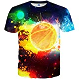Linnhoy Men's Fashion T Shirt 3D Print Short Sleeve T-Shirts S