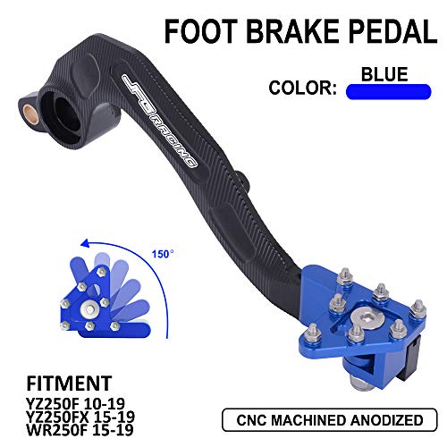 Rear Brake Foot Pedal Lever - CNC Aluminum Motorcycle Yamaha YZ250F YZ 250F 250 F YZF250 10-19 YZ250FX 250FX FX 15-19 WR250F WRF250 WR 15-19 15 16 17 18 19 2015 2016 2017 2018 2019 (Blue)