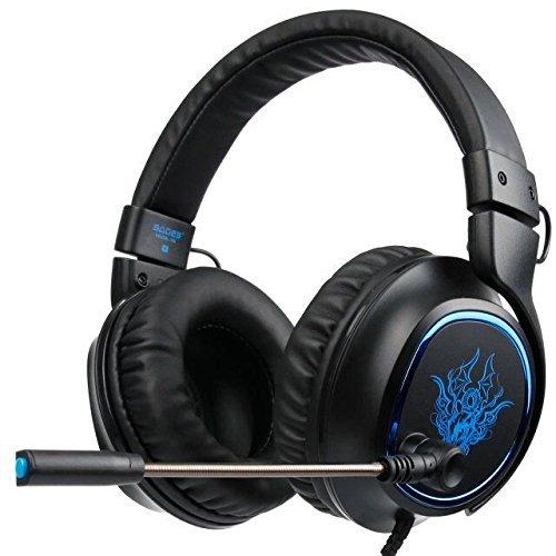 ... Gaming auriculares con micrófono inteligente cancelación de ruido para nueva Xbox One/PS4/portátil/Mac/iPad/iPod(negro& azul): Amazon.es: Electrónica