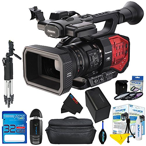 Panasonic AG-DVX200 4K Handheld Camcorder with Four Thirds Sensor and Integrated Zoom Lens + Pixi-Basic Accessory Kit - International Version