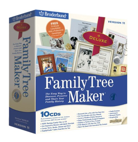 amazon com family tree maker 11 deluxe
