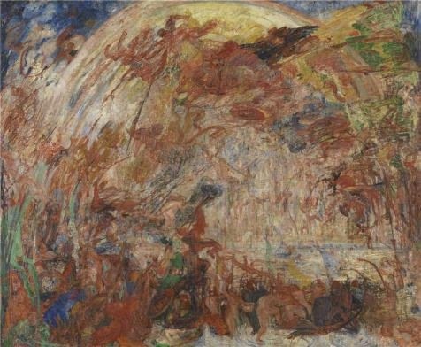 Oil Painting 'James Ensor - Fall Of The Rebel Angels,1889' 24 x 29 inch / 61 x 74 cm , on High Definition HD canvas prints is for Gifts And Bath Room, Bed Room And Laundry Room Decoration
