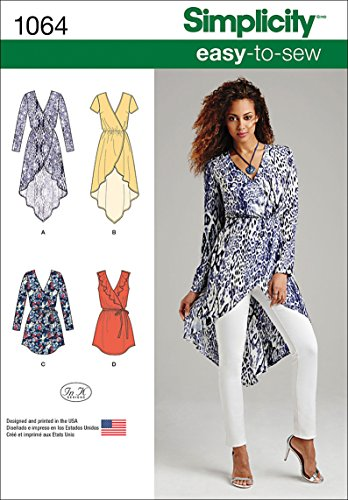 - Simplicity 1064 Learn to Sew Summer Tunic Sewing Pattern for Women, Sizes 6-14