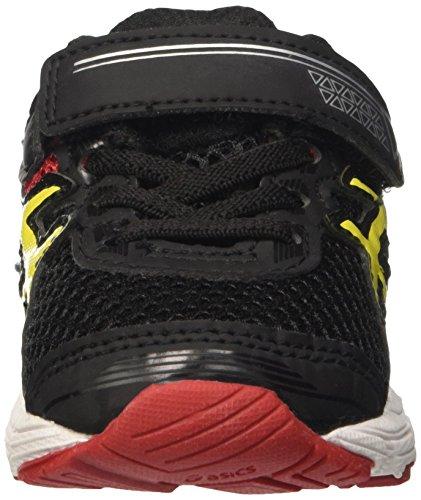 Asics Gt-1000 4 Ts, Zapatillas de Gimnasia Unisex Niños Negro / Rojo / Amarillo