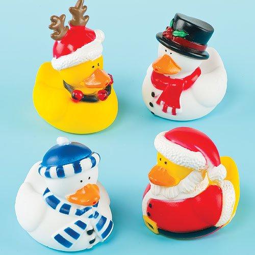 Baker Ross Canards de Noël, petits cadeaux parfaits pour enfants (Lot de 4)