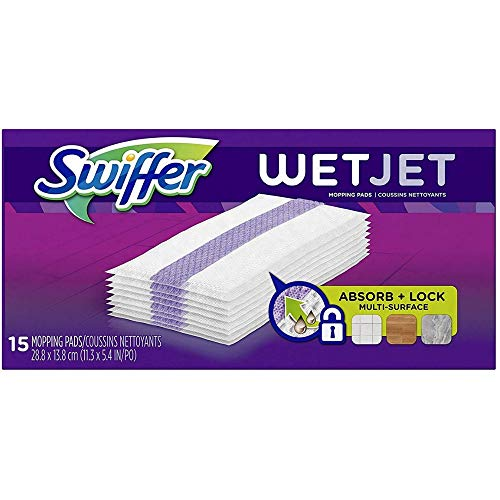 (Swiffer WetJet Hardwood Floor Cleaner, Spray Mop Pad Refill, Multi Surface, 12 Count (Packaging May Vary))