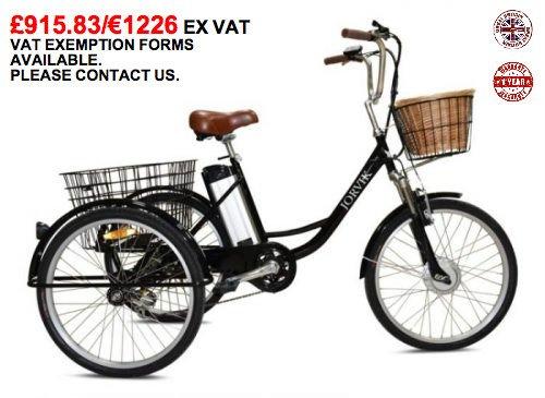 Tienda 2018 JORVIK 26  Electric TRICYCLE 36V 250 250 250 W- adultos Trike   discapacitados   cargo   E Trike  precios razonables