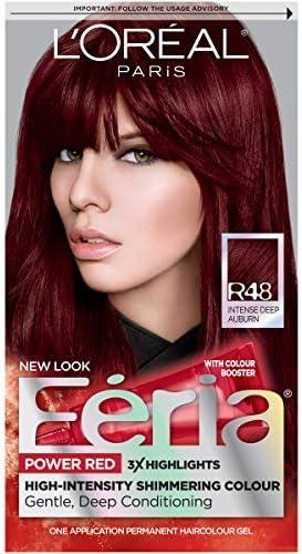 Feria de rojo color de pelo, R48, intenso de profundidad ...