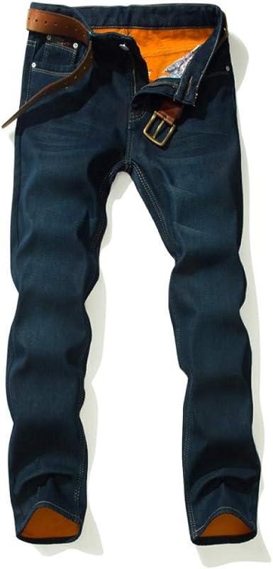 Rlbdnzk Jeans Gruesos De Invierno Para Hombres Gruesos Pantalones De Lana Clasicos Para Hombres Pantalones Vaqueros Azules Para Hombres Pantalones Talla 28 40 Amazon Es Ropa Y Accesorios