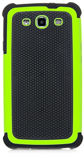 Galaxy S3 Case, iSee Case (TM) Heavy Duty Dual Layer Hybrid Protective Cover Case for Samsung Galaxy S3 i9300(S3-3 in 1) (Green) ()