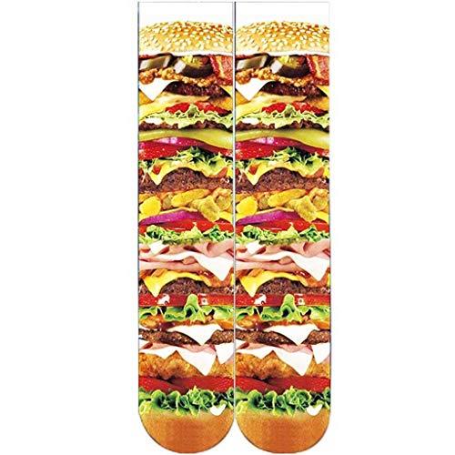 - Tronet Slipper Socks/Women's Novelty Crazy Crew Socks Funny Colorful Food Long Tube Socks