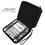Nintendo 2DS Carrying Case by Raven - Durable Protective Accessory for 2DS - 12 Cartridges Slots, Great for Travel, Includes a Free Premium Skin - Perfect Gift for All Occasions!