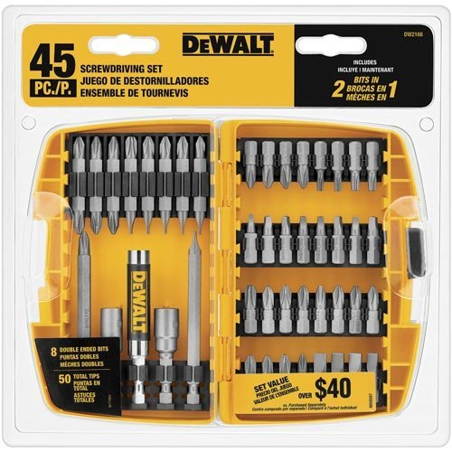 DEWALT DW2166 45-Piece Screwdriving Set with Tough Case (Certified Refurbished)