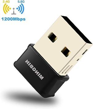 1200Mbps Adaptador Antena WiFi USB 3.0 Dual Band Receptor WiFi 2 ...