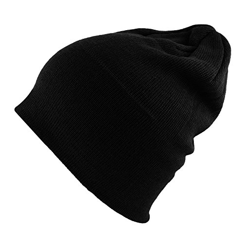 Stretch Mens Beanie (Morehats Cotton Soft Stretch Knit Slouchy Beanie Hip-hop Casual Daily Year Round Hat)