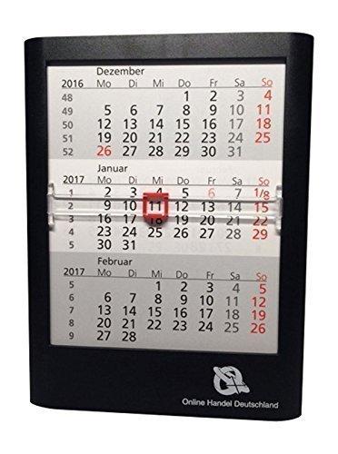 Escritorio 3Meses calendario, para 2años, 12,5x 16x 1.4cm, Negro 5035-d3