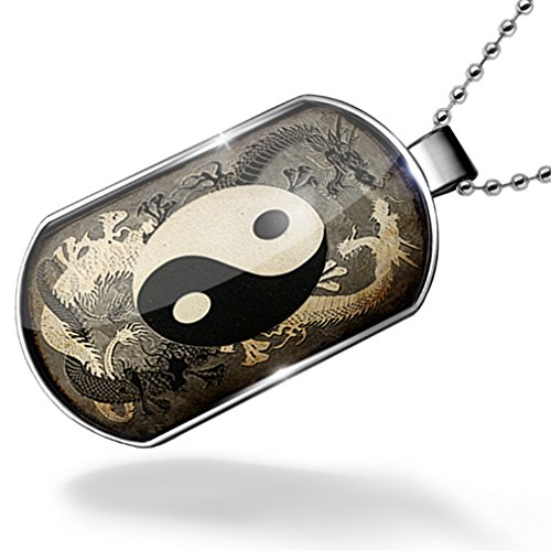 Dogtag+Yin+and+yang%2C+ying+dragon+Dog+tags+necklace+-+Neonblond