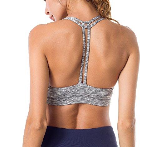 d7568ebfd0075 Queenie Ke Women s Light Support Double-T Back Wirefree Pad Yoga Sports Bra  - Buy Online in UAE.