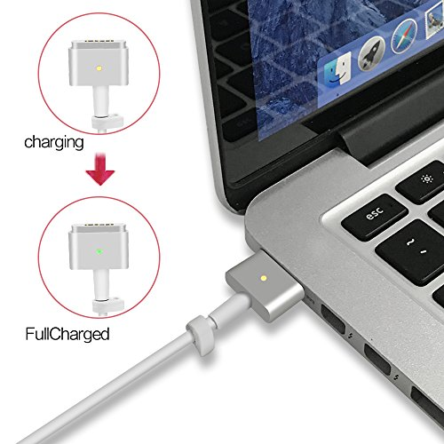 Qyd 45w-laptop-charger replacement magsafe-2-t tip-power-adapter for macbook-air 11''13'' md592ll/a md592b/a md223ch/a a1435 a1465 mqd32 a1466 a1436 8.2ft notebook-power-supply-ac-cord-cable by QYD (Image #3)